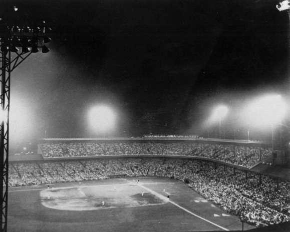 First Night Game At Crosley Field 1935 Cincinnati Ohio Reds Red Legs