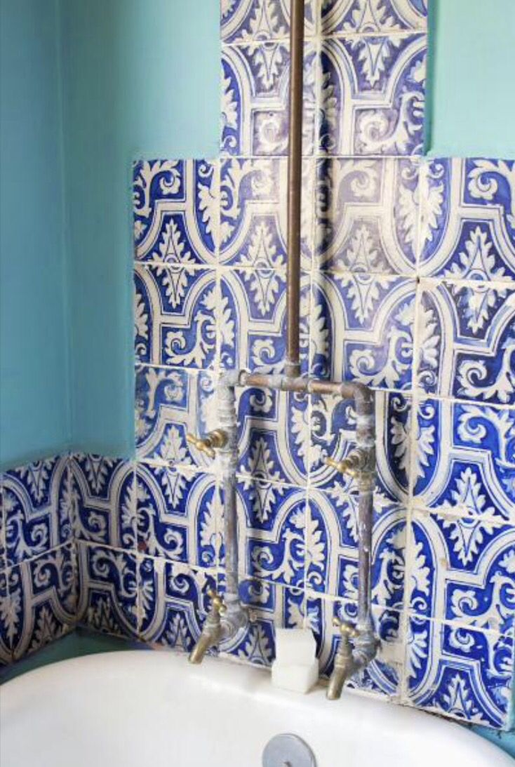 """These blue and white tiles are from our feature """"Guest Appearance"""""""