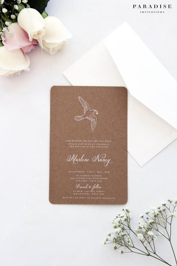 Dove Invitations Christening Invitations Baptism Invitations First