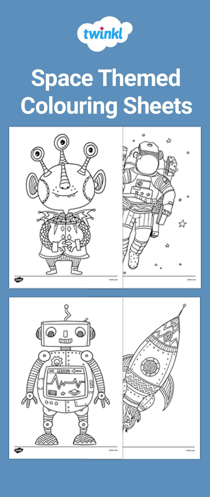 Space Themed Colouring Sheets Mindfulness Colouring Coloring Sheets Theme