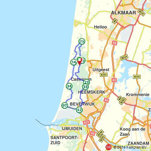 Fietsroute: Uitwaaien in de Noord-Hollandse duinen (http://www.route.nl/fietsroutes/115690/Uitwaaien-in-de-Noord-Hollandse-duinen/)