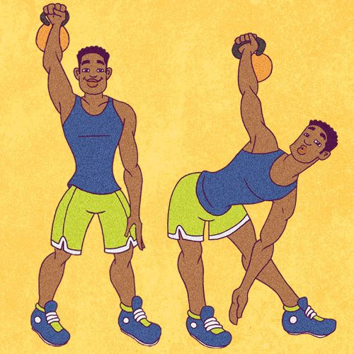 22 Kick-Ass Kettlebell Exercises   Greatist , I don't know about these pictures though!