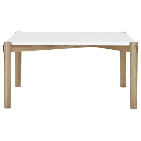 Holt Square Coffee Table Oak Frame with White Top