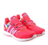 ADIDAS HYPERFAST 2.0 Girly Red Sneakers  with Laces. Παιδικά κοριτσίστικα αθλητικά παπούτσια με κορδόνια.
