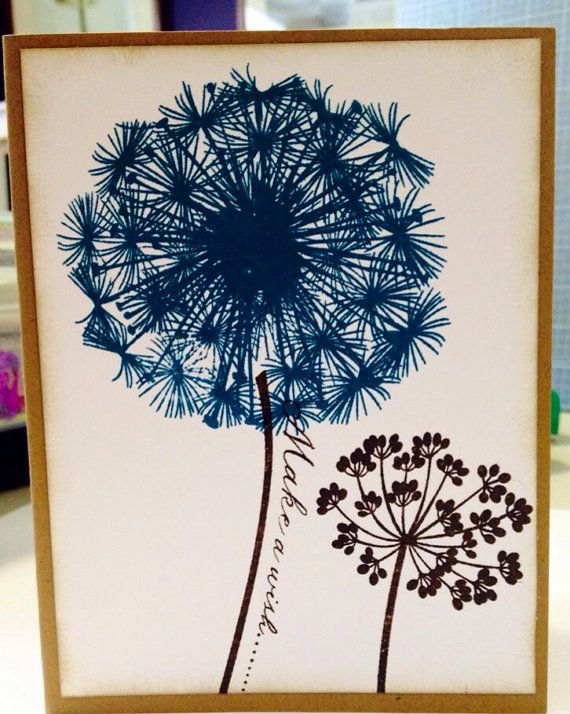 Brown and turquoise flower birthday card. on Etsy, $4.56 CAD