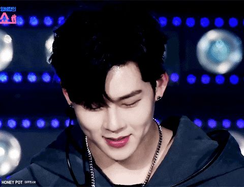 Jooheon dimples cute gif