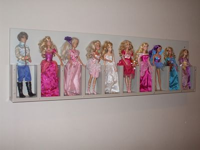 Dicas para organizar as barbies organization ideas kinderzimmer barbie aufbewahrung kinder - Barbie kinderzimmer ...