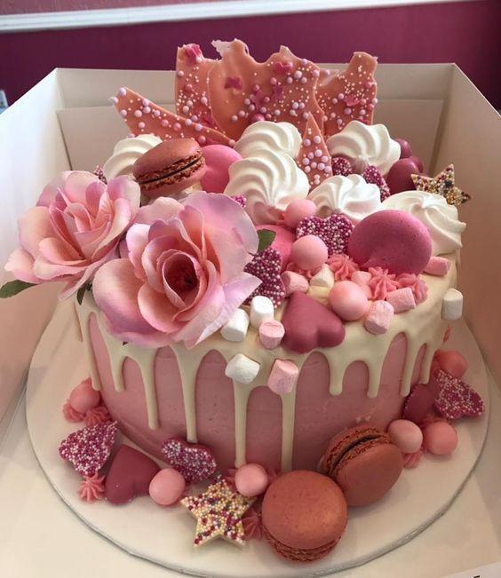 24 epische Makronengeburtstagstorten-Ideen, die Ihre nächsten Geburtstagsfeiern inspirieren   – Sweets