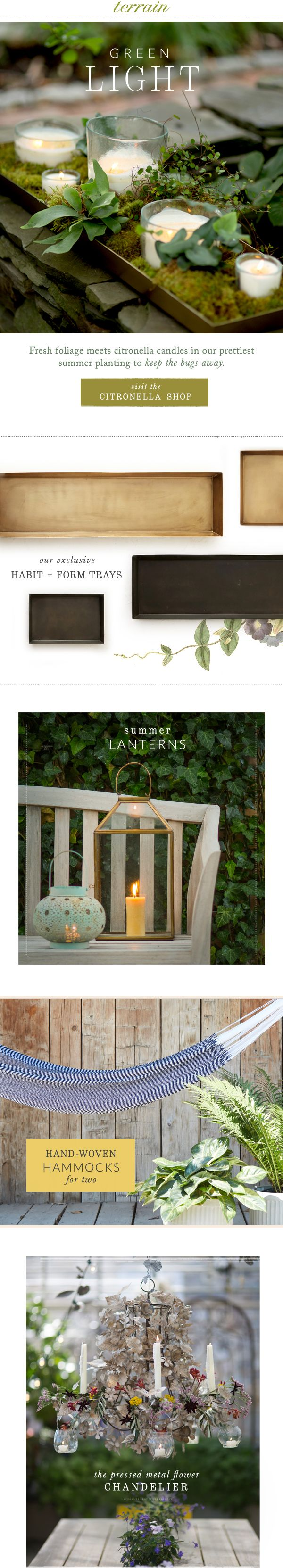 Summertime #citronella #candles at #shopterrain July 3