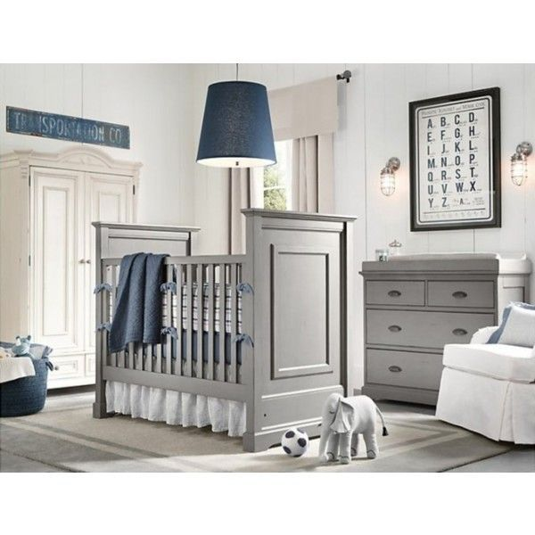 23 Cute Baby Room Ideas - like this one best. blue can be swapped for something girlier, if that's the case!