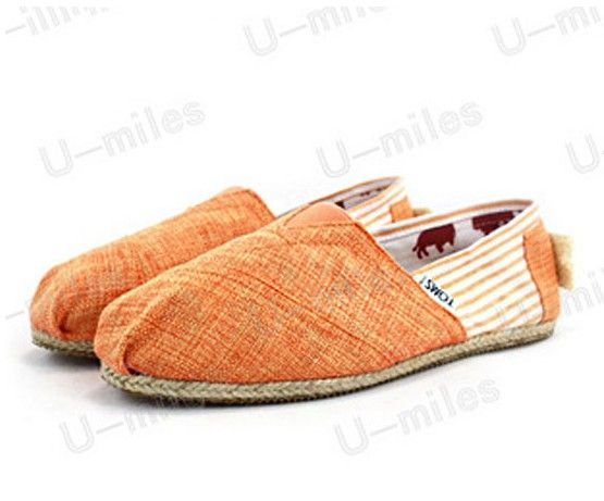 Women's Cheap Toms Striped Shoes in Orange : Men's And Women's Toms Shoes, Discount Online Sale, Toms Outlet Offer the 2013 Latest and Classic Toms Shoes, Toms Boots and Toms Stripe for Men and Women. 100% Top Quality Guarantee, Free Shipping! $17