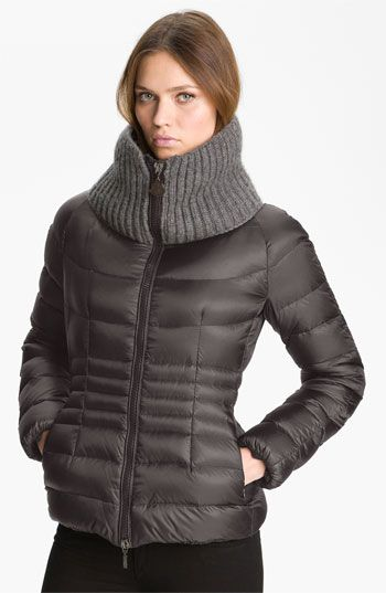 Moncler 'Peliade' Knit Collar Down Jacket available at #Nordstrom