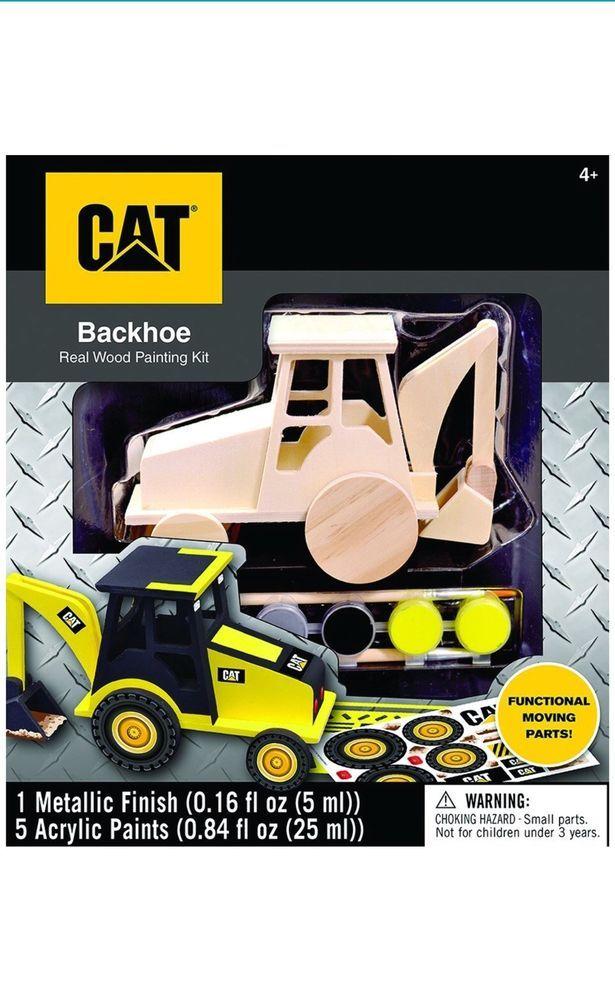 Kids Masterpieces Cat Backhoe Caterpillar Paint Kits  | eBay
