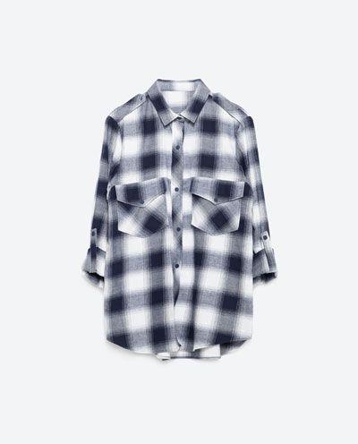 Chemise à carreaux pour femme