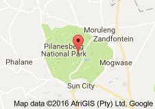 Map of Pilanesberg National Park