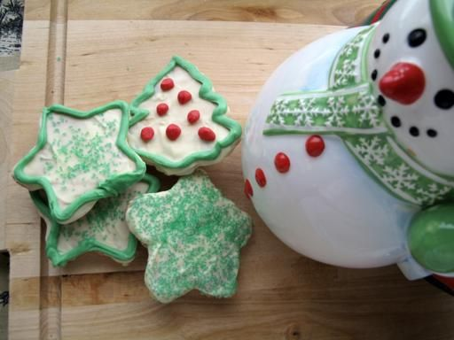 White Chocolate Cherry Biscotti in Christmas shapes. Soo delicious ...