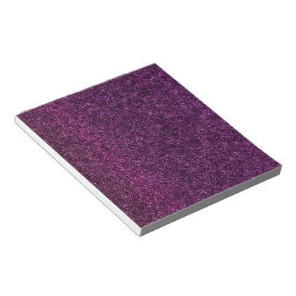 Purple Luxury Shiny Sparkles Notepad 40 pages - personalize gift idea special custom diy or cyo