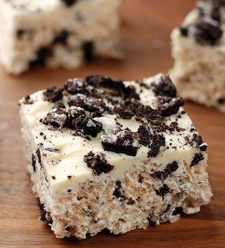 Oreo Rice Krispie Treats – unbelievably good!