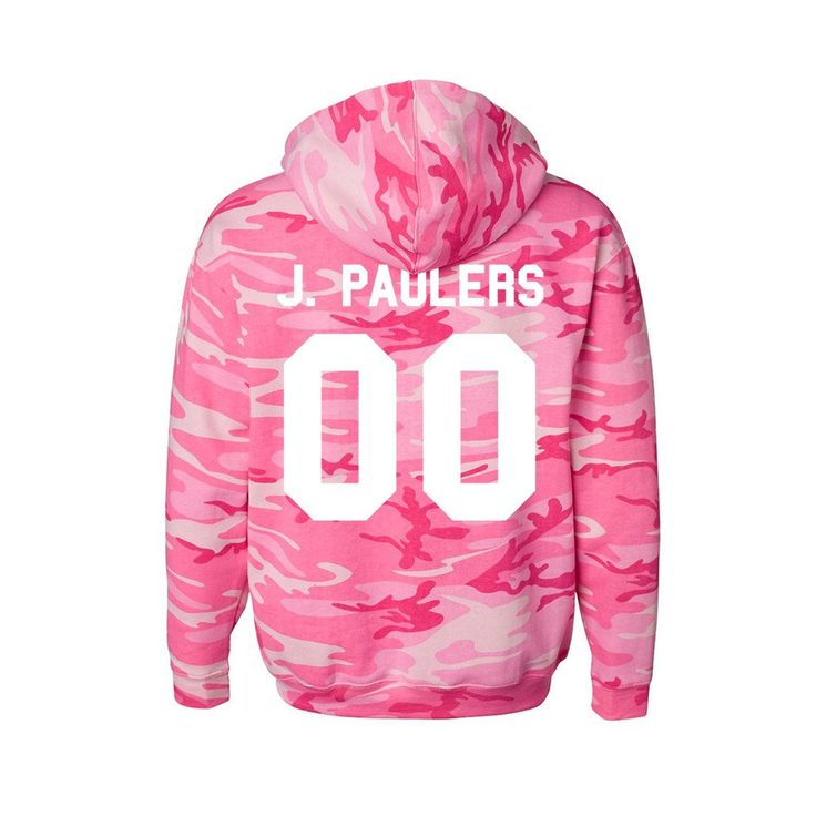 """LIMITED Quantity available!next week! In honor of Jake Paul's birthday, Jake created this one-of-a-kind """"J. Pauler"""" pink camo hoodie that is ! Thes"""