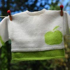 Layette brassière pomme 1 mois neuve tricotée main