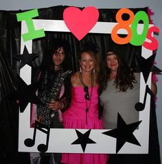 80's party Polaroid photo booth