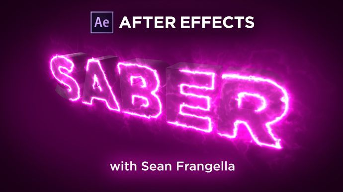 After Effects – Creating a 3D Write-On Text Animation with Glowing Saber Effects Tutorial