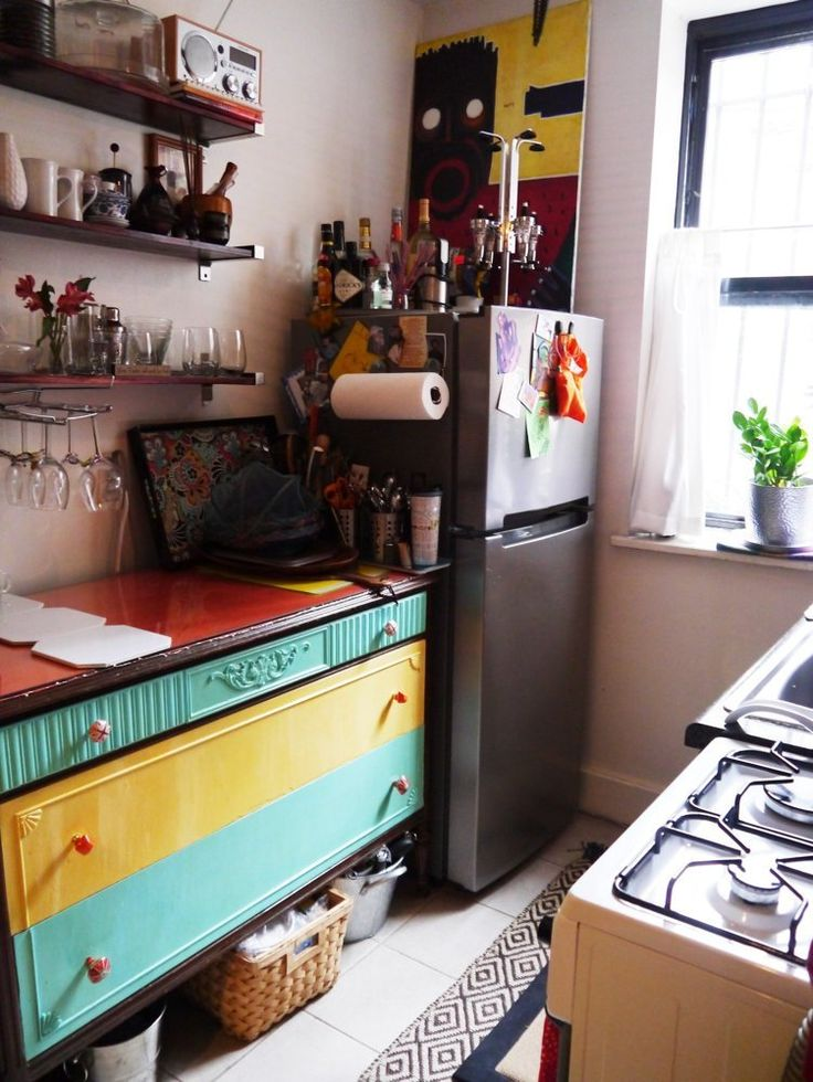 17 best images about tiny kitchen on pinterest stove for Kitchen units for studio apartments
