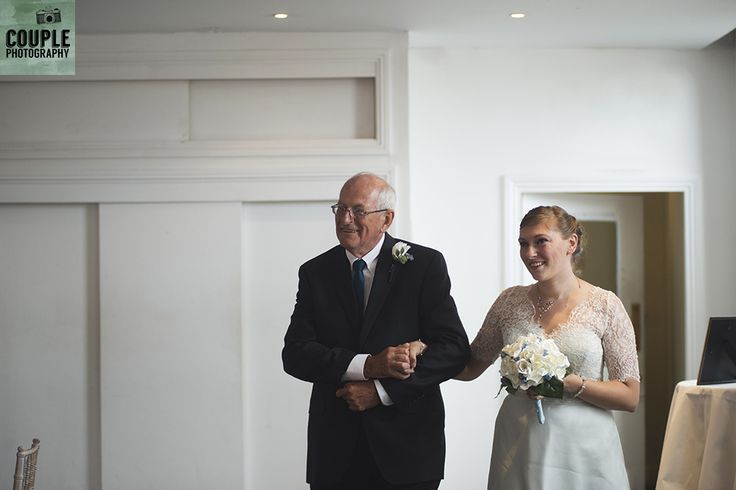 happy to escort her down the aisle. Real Wedding by Couple Photography