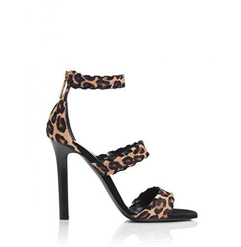 Tamara Mellon Sundance Leopard Print Sandals