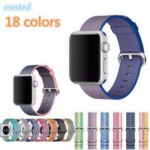 Хохлатая спортивные Woven Nylon band для Apple Watch 42mm 38 мм наручные Braclet ткань пояса-как нейлон ремешок для iwatch 2 /1/издание(China (Mainland))