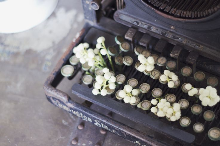 Deconstructed Typewriter on Borrow and Beau | www.borrowandbeau.co.nz | Styling: Borrow and Beau |  Photography: Brijana Cato Photography