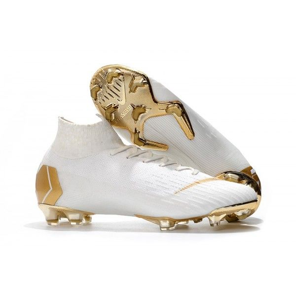 New Nike Mercurial Superfly 6 Elite Fg World Cup White Gold Soccer Cleats Nike Soccer Boots Mens Football Cleats