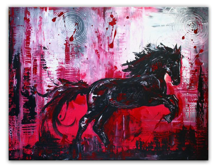 Springendes Pferd - Pferdebild Malerei Gemälde Unikat #tierbilder #tiergemälde #tiermalerei #tiere #pferdebilder #pferdemalerei #pferdegemalt #gemaltepferde #handgemaltetiere #tierehandgemalt