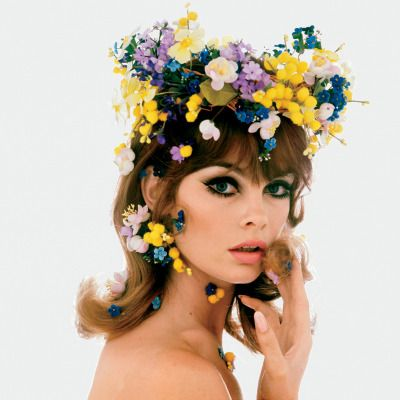 vogue:  Few accessories have aroused such commentary, for and against, than the flower crown.See Jean Shrimpton and 19 other women who wore them throughout history.Photographed by Bert Stern, Vogue, January 01, 1965