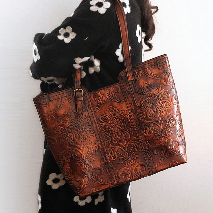 Cheap bag lady halloween costume, Buy Quality handbags vogue directly from China handbag leather Suppliers: High Quality Genuine Leather Handmade Vintage Women Single One Shoulder Bag Engraving Flower Embossed Design Ladies Tote Handbag