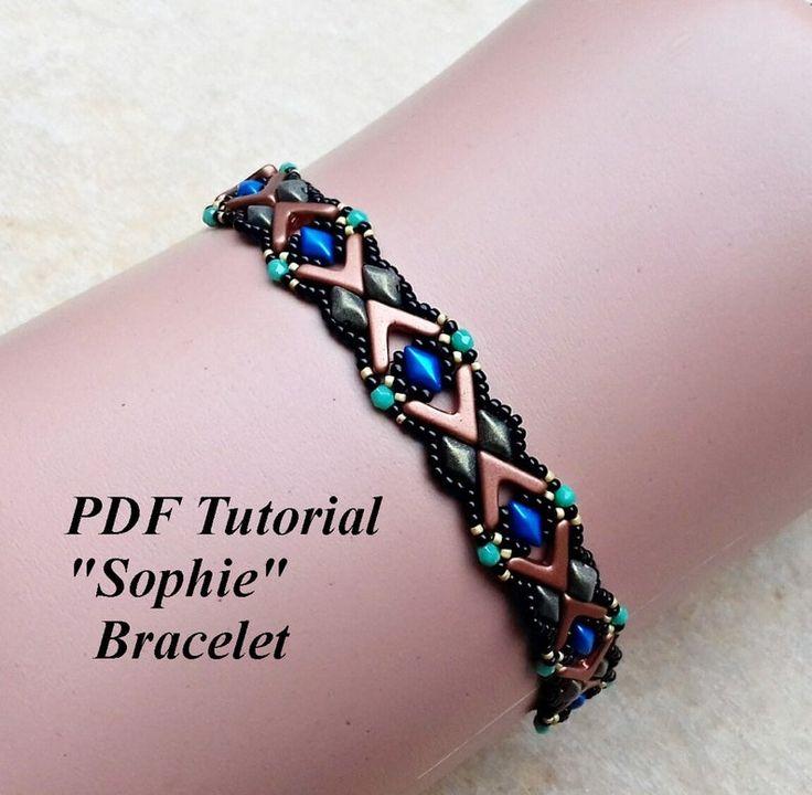 Beading pattern sophie bracelet seed bead tutorial