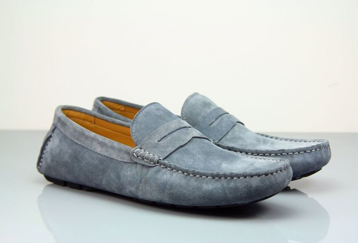 Need a Stylish Pair of Loafers to Lounge Around In? Try Our Fane Flap Gunmetal Suede Loafers! #insititchu #footwear #menswear #suedeloafers #mensstyle