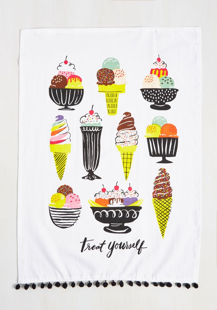 We All Dream of Ice Cream! Tea Towel Set