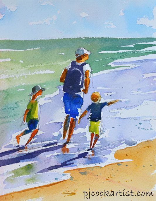 Quick Figures In Watercolor, I sometimes just use the back of old watercolor paintings or any scraps of paper. watercolor tutorial.