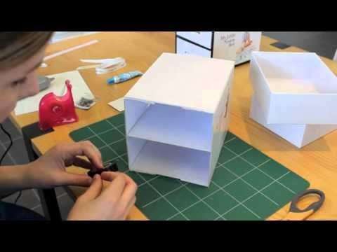 Petit meuble 2 tiroirs. Pour recycler ses boîtes en carton !