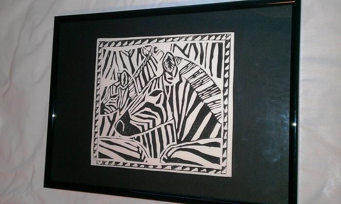 Zebras framed print - by yoliprints on madeit