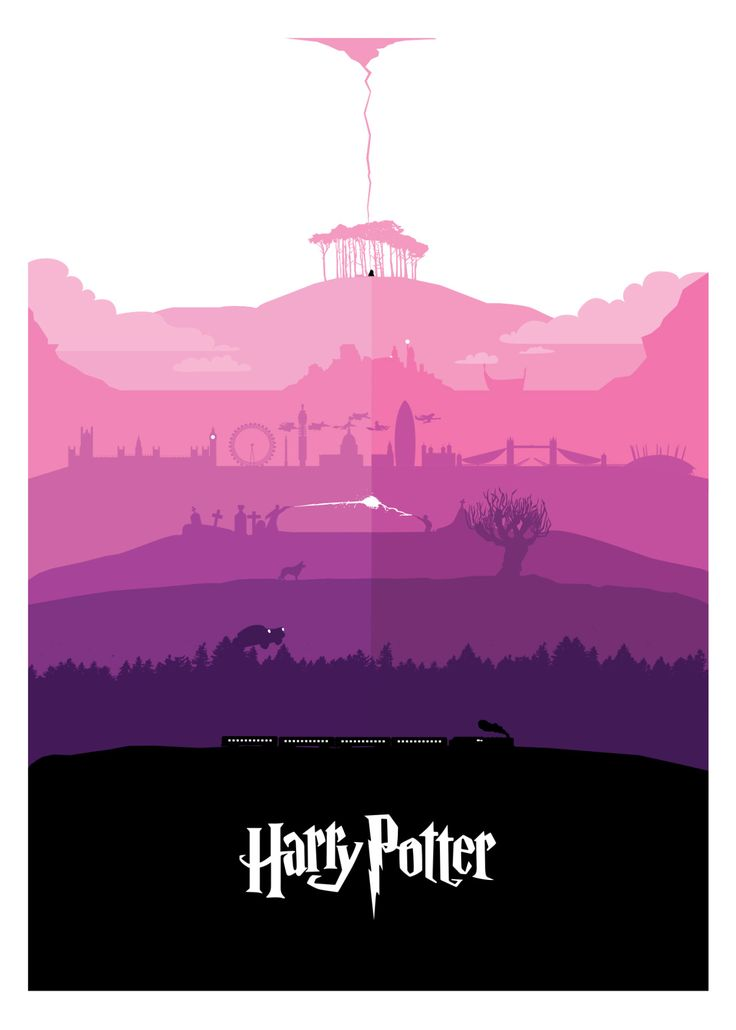 "petterscholander: "" All seven Harry Potter stories - in one poster. Full Portfolio: www.petterscholander.com """