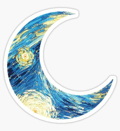 Starry Moon Sticker