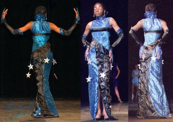 robe sirène scène rétro futuriste coupe par MatheHBcouture sur Etsy
