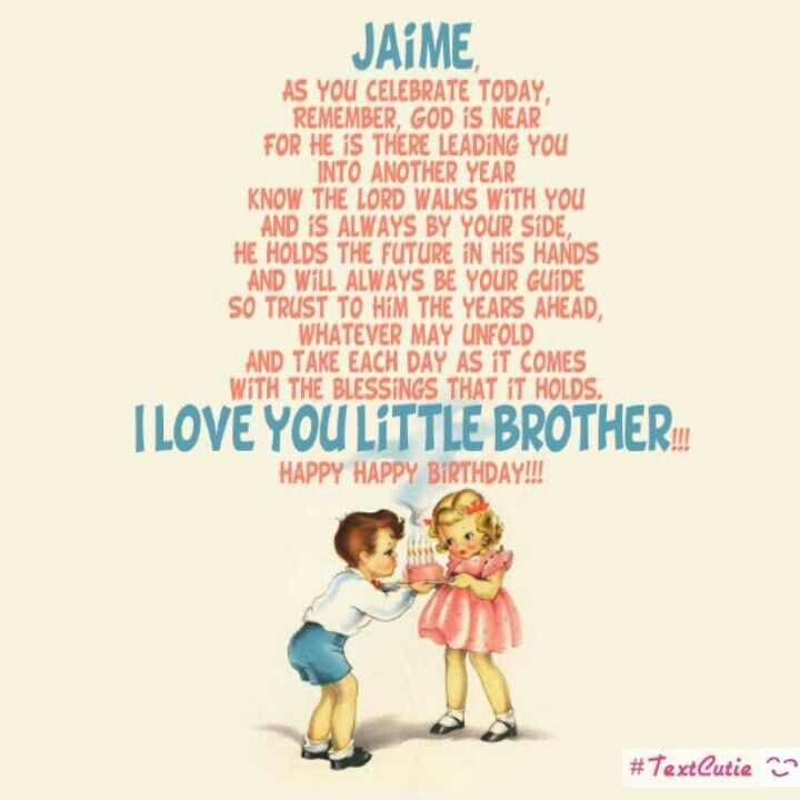 Birthday Quotes For Younger Brother From Sister: Best 10+ Little Brother Quotes Ideas On Pinterest