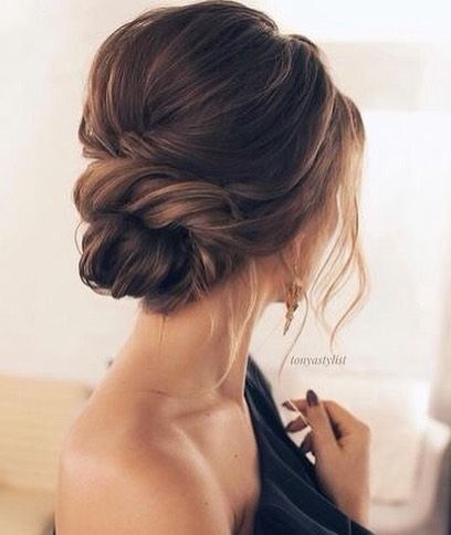 HAIR INSPO // This basic look could be beautiful on a bride or bridesmaid! What…