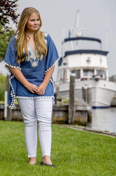 Princesse Catharina-Amalia, 7 juillet 2017, Photoshoot d'été annuel, Kagerplassen, Warmond (Pays-Bas)