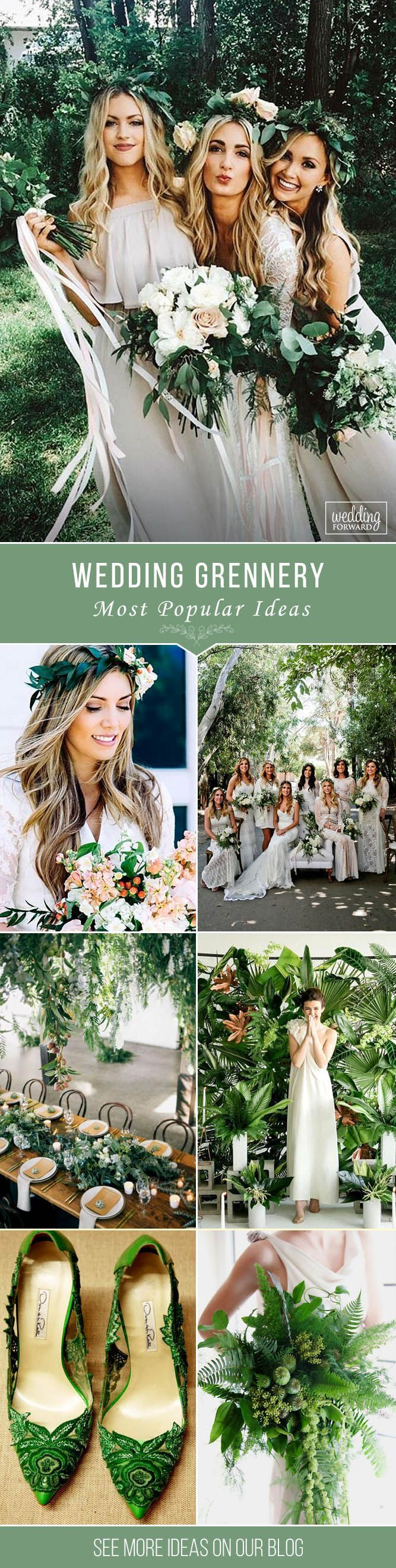 Wedding Greenery - Most Popular Ideas For 2017 ❤️ Wedding greenery is a trend for 2017. Get the inspiration looking at the ideas of Tuscan weddings in our gallery. See more: http://www.weddingforward.com/wedding-greenery/ #wedding #photography
