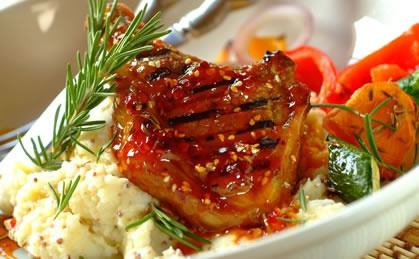 Sticky Peri-Peri Lamb Cutlets - bake them or braai them!