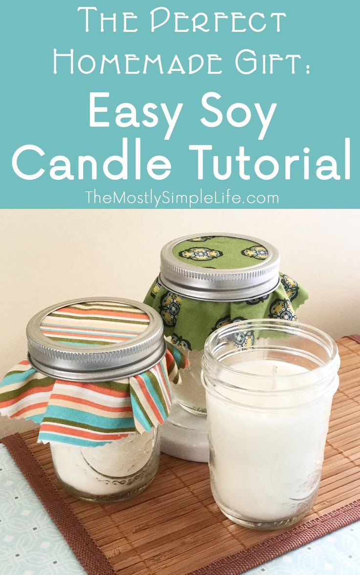 Time to start making some awesome homemade Christmas gifts! These soy candles…